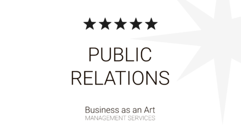 Public relations and presentation business as an art portfolio archive