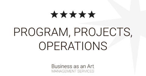 program project operations by business as an art product portfolio