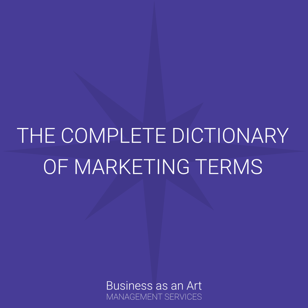 complete dictionary of marketing terminology