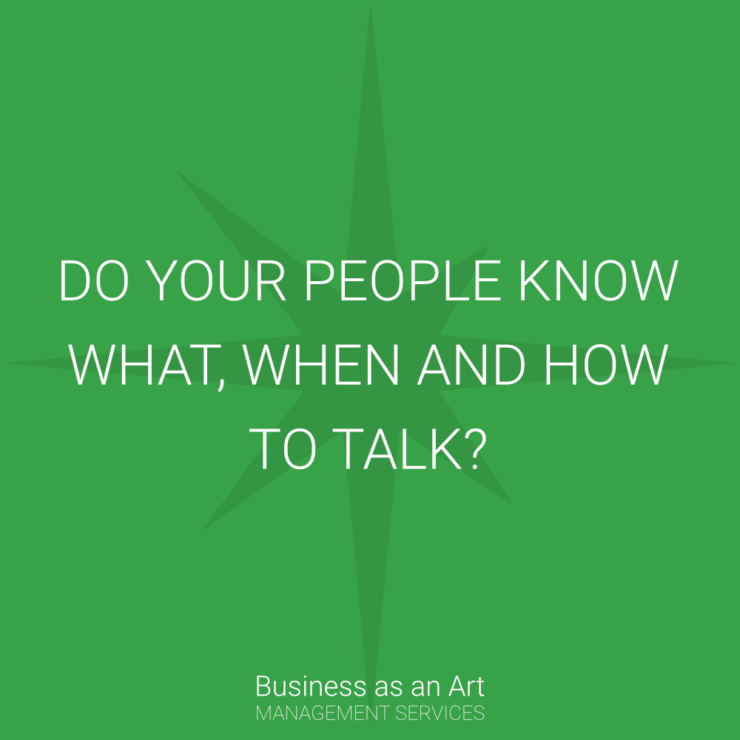 do your people know what ahen how to talk in business