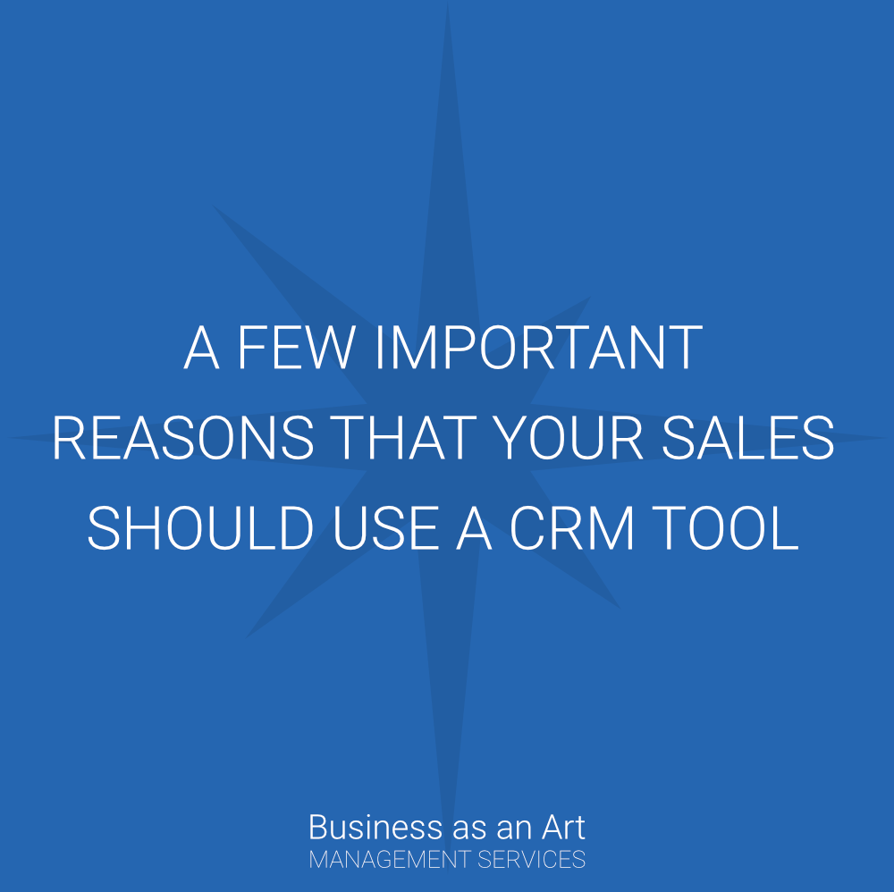 few important reasons that your sales guys should use crm
