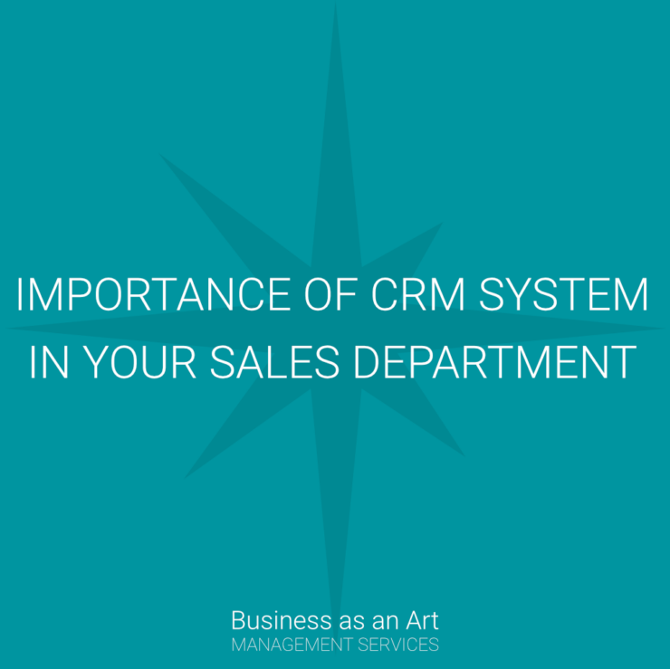 importance of crm system in your sales department