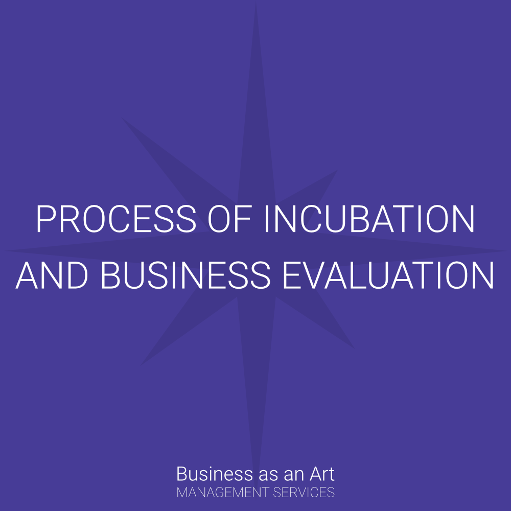 process of incubation and business evaluation there