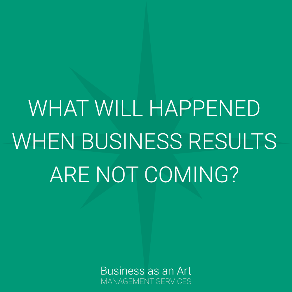 what will happened when business results are not coming?