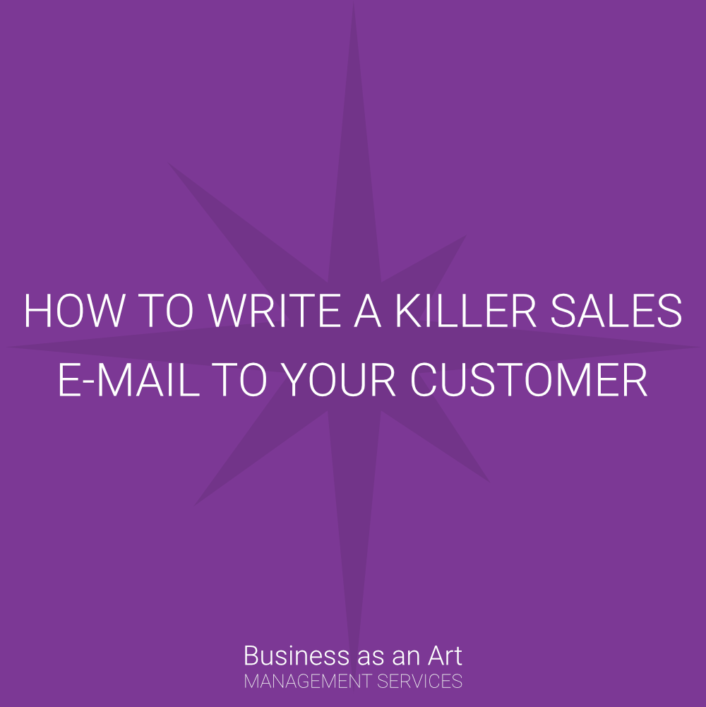 how to write a killer sales email to your customers