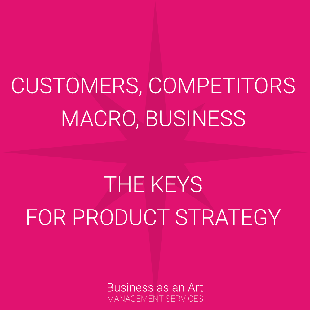 key for your product strategy