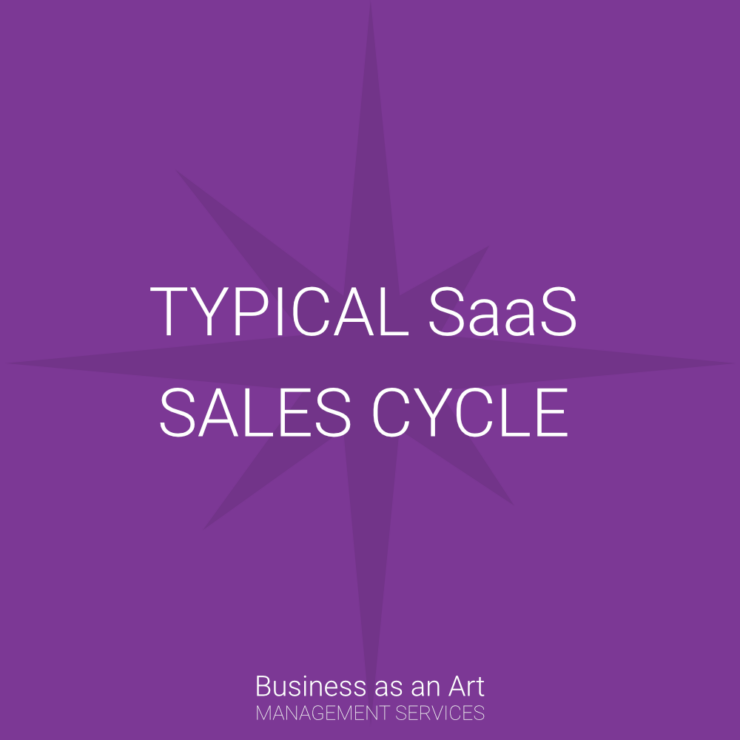 typical SaaS software as a service sales cycle