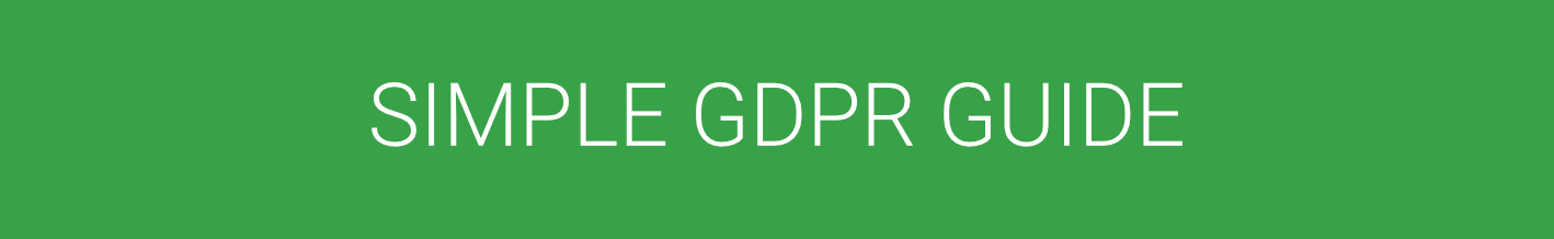 simple gdpr guide for organizations compliance data processing headline