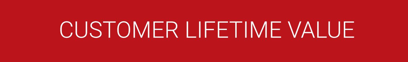 calculate customer lifetime value CLTV LTV by business as an art header
